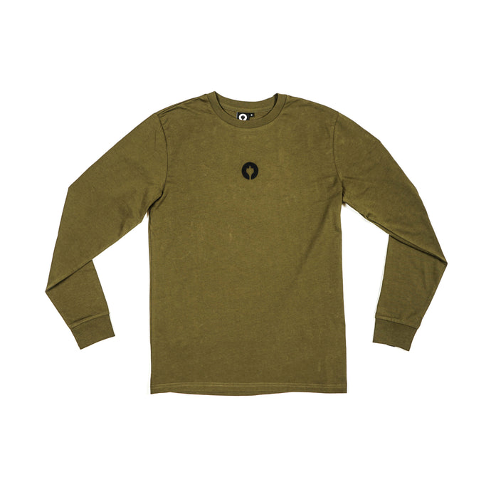 Staatslieden Essential Longsleeve Army Green (select your size to check availability)