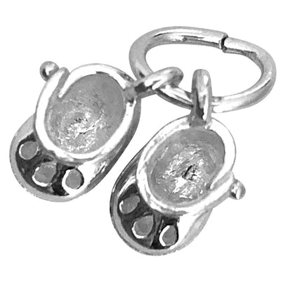 Baby shoes sterling silver charms