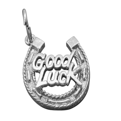 Good luck in a horse shoe small silver charm nz