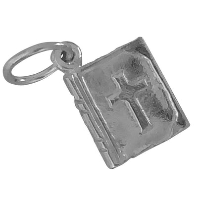 Small Bible silver charm
