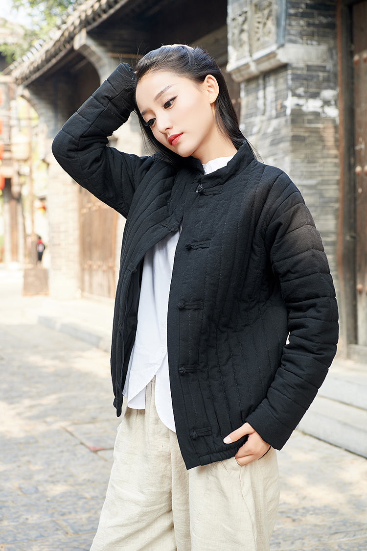 Chinese Style Retro Disc Buckle Short Cotton-padded Jacket