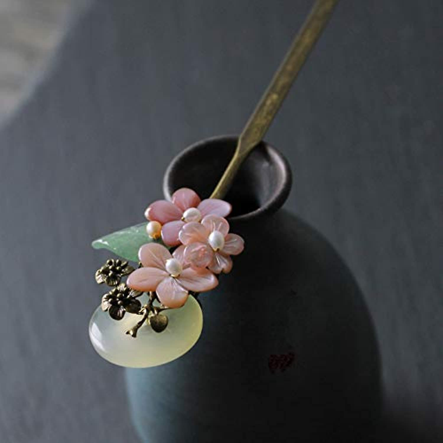 Hanfu Chinese Hair Sticks Hairpin Hair Accessories Jade Traditional Decoration For Wedding Party Cosplay