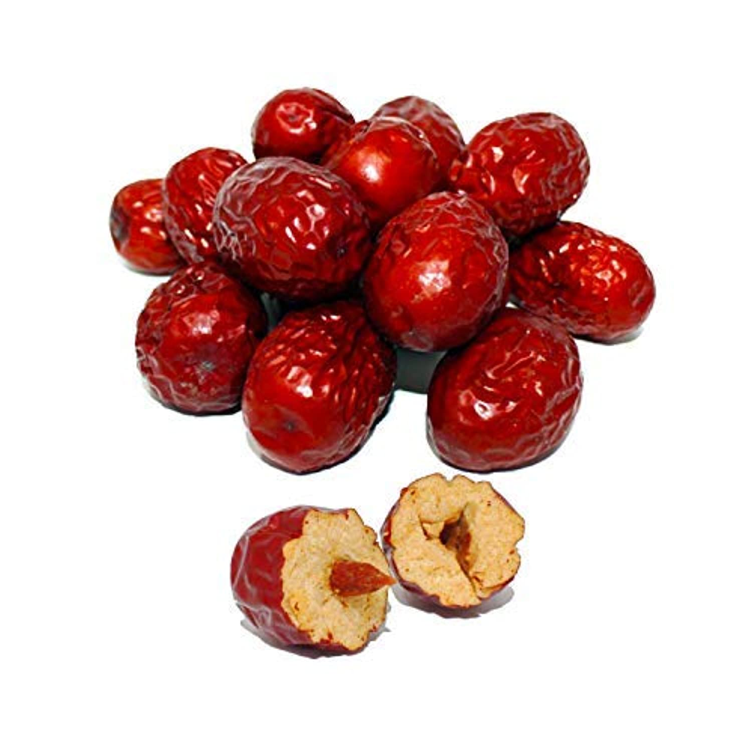 Organic Dried Chinese Red Dates Jujube Hong Zao 紅棗,Grocery & Gourmet Food Snack Foods Dried Fruit & Raisins Dates 1LB/bag