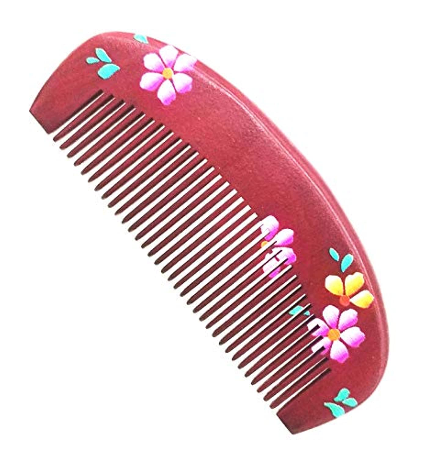 Hair Beard Pick Wooden Comb – natural peach wood