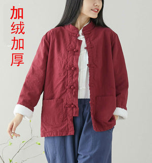 Open image in slideshow, Li Ziqi's Disc Button Tang Suit