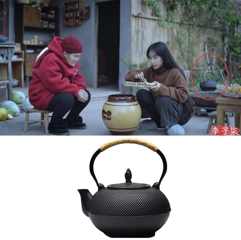 Li Ziqi teapot, cast iron kettle, cast iron kettle