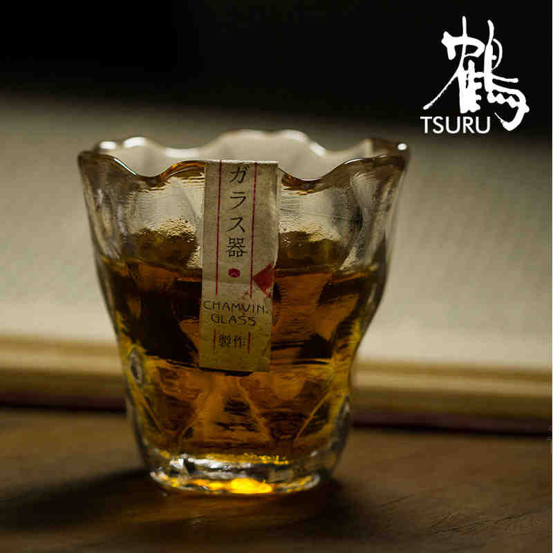 Edo glass sake hammered heat-resistant glass cup