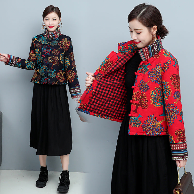 Autumn and winter Han Fu Chinese Style Tang Suit Jacket