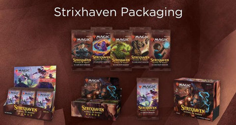 MTG Strixhaven packaging and products