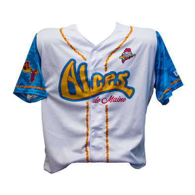 Authentic On-Field Player Alces de Maine Jersey