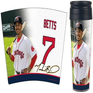 Portland Sea Dogs Travel Mug - Mookie Betts Image