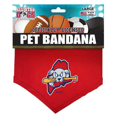 Portland Sea Dogs Dog Bandana - Large