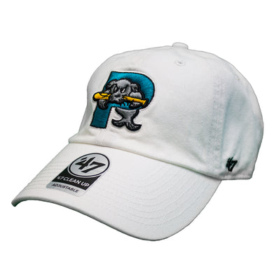White Hat with Retro Teal Logo
