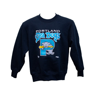 Retro Teal Youth Crew Sweatshirt