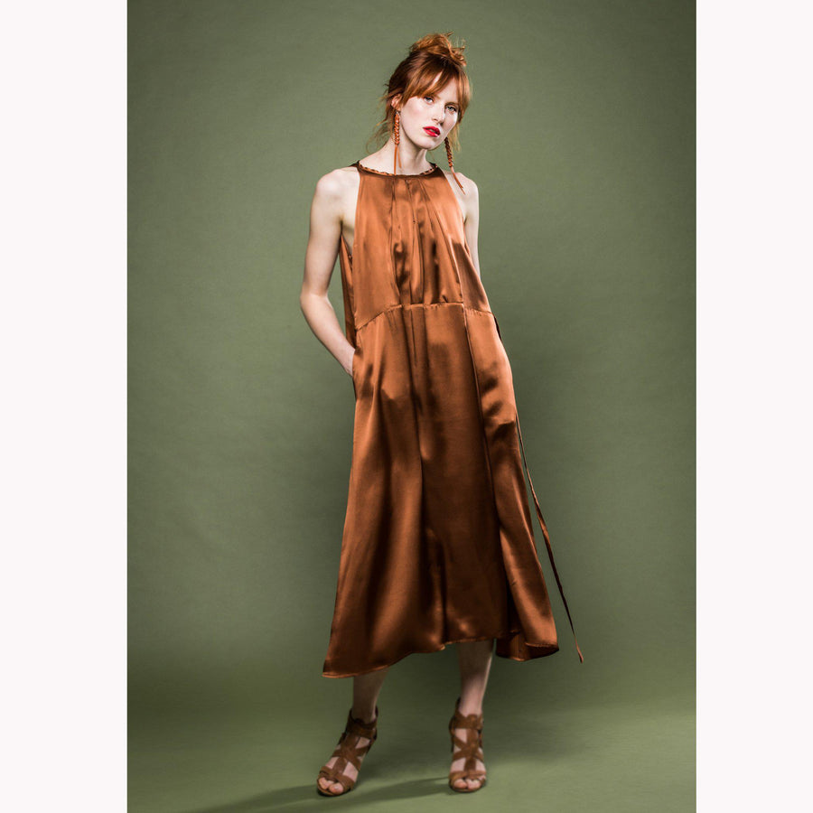 CLAIRE - Silk dress- abito seta