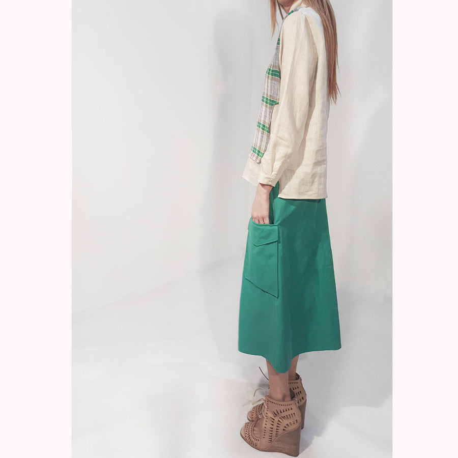 NARGO SAX emerald- GONNA- SKIRT- col.emerald