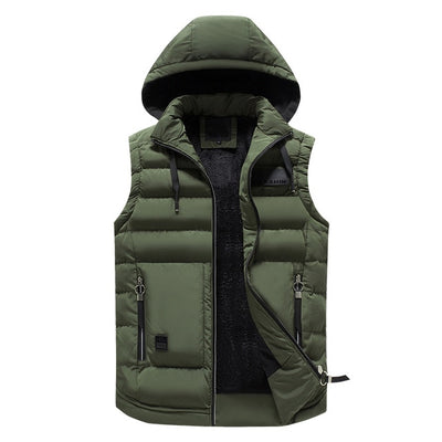Puffer Vest Removable Hood