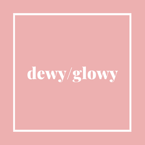 dewy glowy logo skin care tools