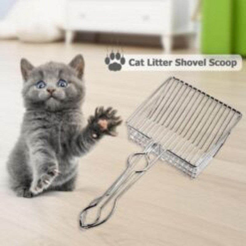 Pet Cleaning Tool New Cat Litter Shovel Stainless Steel Large Metal Tofu Sand Plating Process