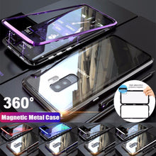 Load image into Gallery viewer, 2019 New Magnetic Adsorption Metal Clear Glass Protective Case for Samsung Galaxy  S9 / S9 PlusNote 9