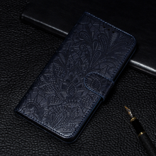 Load image into Gallery viewer, 2020 Leather Case 3D Embossing Lace flower wallet for Huawei