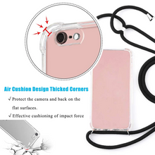 Load image into Gallery viewer, Necklace Lanyard Shoulder Strap Cord Soft TPU Phone Cover for iPhone Series