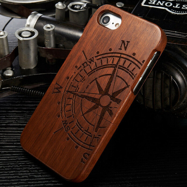 Genuine Natural Real Wood Hard Back Cases for iPhone Series