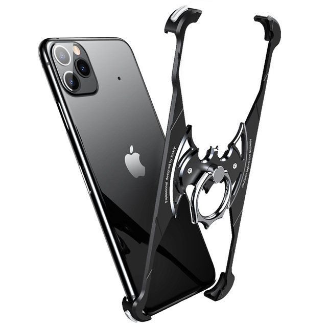 OATSBAS Bat Shape Luxury Metal Cases for iPhone 11 11 Pro 11 Pro Max