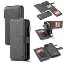 Load image into Gallery viewer, Luxury Zipper Wallet Leather Cases For iPhone Series