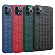 Load image into Gallery viewer, Fashion Woven Pattern PU Leather Case For iPhone Series