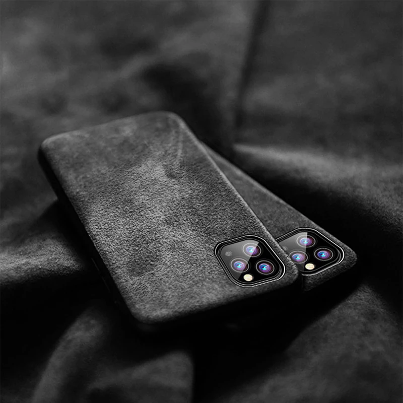 Alcantara artificial Leather Whole Carbon  cases For iPhone