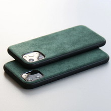 Load image into Gallery viewer, Alcantara artificial Leather Whole Carbon  cases For iPhone