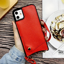 Load image into Gallery viewer, Crossbody Long Chain phonecase  Card Wallet Case For iPhone Series
