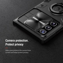Load image into Gallery viewer, Luxury Sliding Lens Protection ring holder case for Samsung NOTE20 Ultra