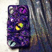 Load image into Gallery viewer, Purple Pool of Eyes Cases for iPhone Series
