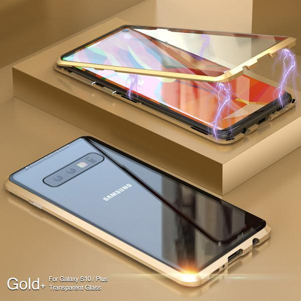 Upgraded Two Side Tempered Glass Magnetic Adsorption Phone Case for Samsung S10 S10 Plus