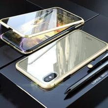 Load image into Gallery viewer, Magnetic Adsorption Case Luxury Metal Tempered Double Sides Glass Cover Case for iPhone