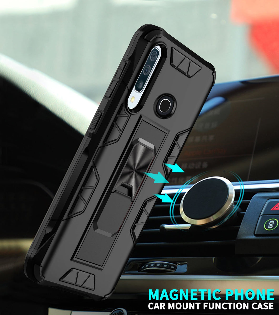 2020 Luxury Magnet Kickstand Car Holder Ring Phone Case For HUAWEI P30 Lite