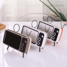Load image into Gallery viewer, RETRO TV BLUETOOTH SPEAKER MOBILE PHONE HOLDER