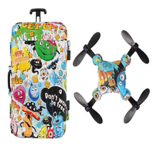 Load image into Gallery viewer, Foldable Mini Suitcase Drone for Kids with HD Camera