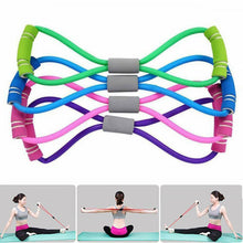 Load image into Gallery viewer, Fitness Gum 4 Tube Resistance Bands Latex Pedal Exerciser Sit-up Pull Rope Expander Elastic Bands Yoga equipment Pilates Workout