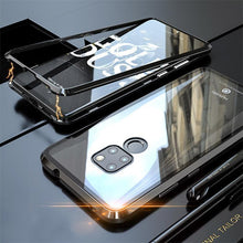 Load image into Gallery viewer, Magnetic Metal Aluminum Alloy Transparent Glass Armor Protect Phone Case for Huawei Mate 20 Series