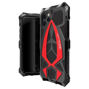 Luxury 360° Heavy Duty Protection Shockproof armor Aluminum Metal Phone Case With Built-in Screen Protector For iPhone