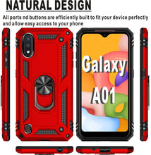 Load image into Gallery viewer, Luxury Armor Ring Bracket Phone Case For Samsung A01