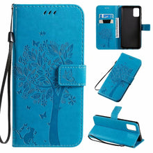Load image into Gallery viewer, Cat Tree Premium Leather Flip Wallet Phone Cases For Samsung