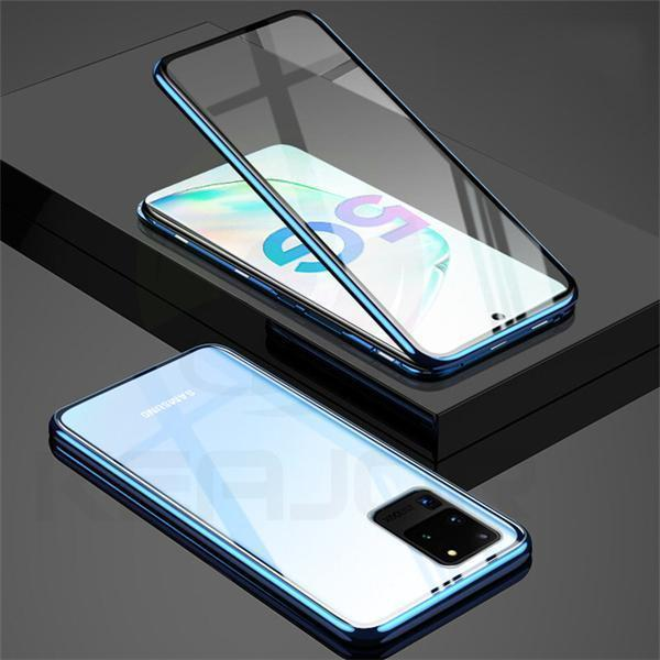Double Sided Metal Magnetic Adsorption Case for Samsung S20 Series