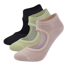 Load image into Gallery viewer, Women High Quality Pilates Socks Anti-Slip Breathable Backless Yoga Socks Ankle Ladies Ballet Dance Sports Socks for Fitness Gym