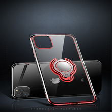 Load image into Gallery viewer, Car Mounted Three-Stage Ring Transparent Case for iPhone