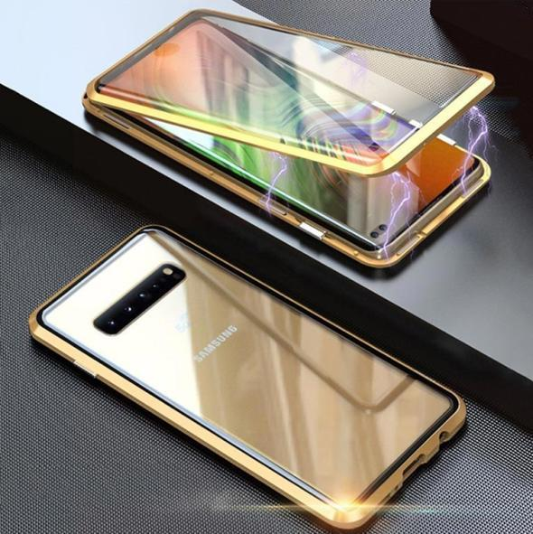 Upgraded Two Side Tempered Glass Magnetic Adsorption Phone Case for Samsung S10 Series