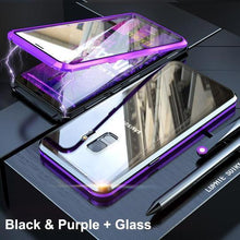 Load image into Gallery viewer, Magnetic Adsorption Transparent Tempered Phone Case For Samsung S9 / S9 PLUS / Note9